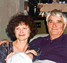 Budd Hopkins with former wife and co-author, Carol Rainey, 1996